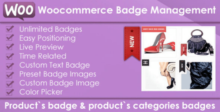 Woocommerce products badge management plugin wordpress