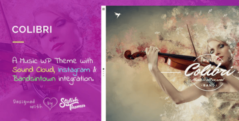 Colibri themes wordpress creer site internet photographe studio photo