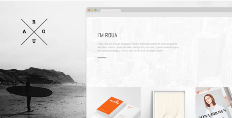 Roua themes wordpress website photographer artist
