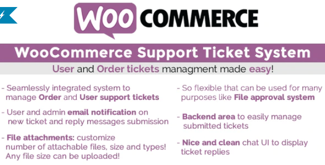 Woocommerce support ticket system plugin wordpress