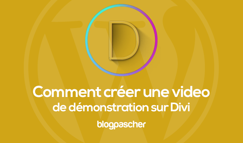 How to create a presentation video on divi