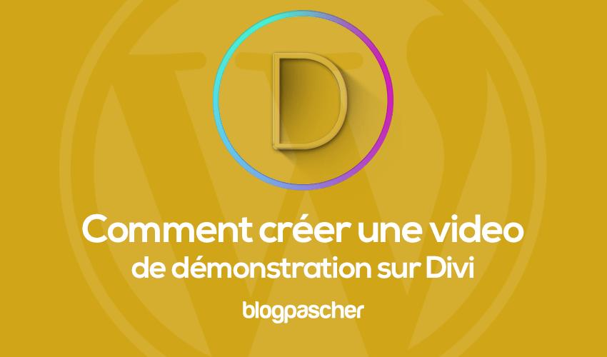 Comment créer une video de présentation sur divi