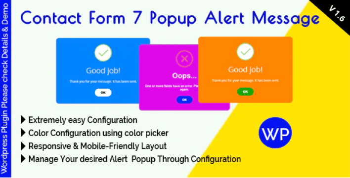 Contact form 7 popup alert message plugin wordpress