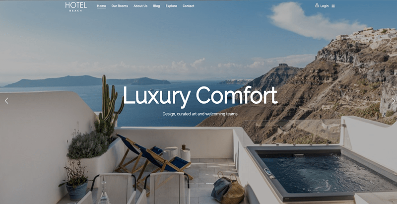Hoteller theme wordpress creer site web entreprise hotel