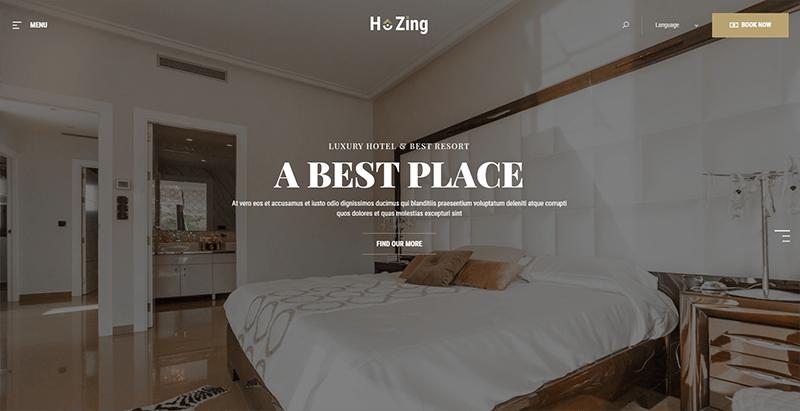 Hozing theme wordpress creer site web entreprise hotel