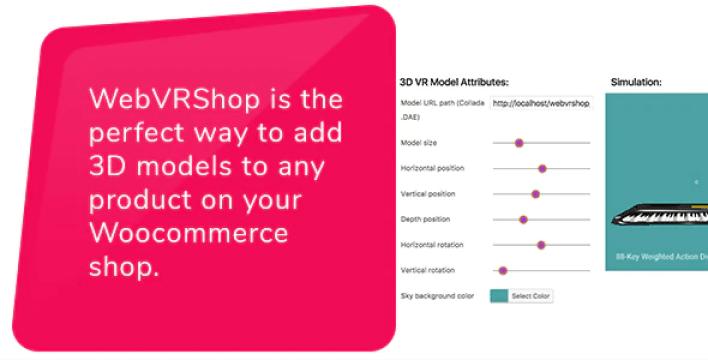 Add 3d models to any woocommerce shop web virtual reality plugin wordpress