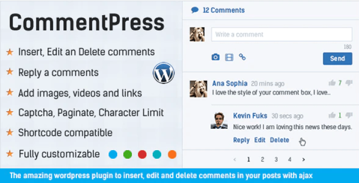 Commentpress ajax commenti inserire, modificare ed eliminare commenti per il plugin wp wordpress