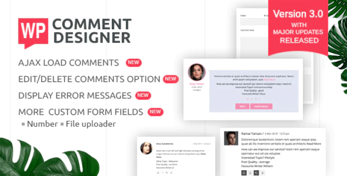 Wp comment designer customize and design wordpress comments and comment form plugin wordpress