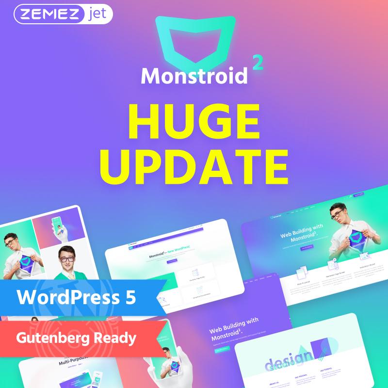Monstroid2 - многофункциональный модульный элемент WordPress Theme