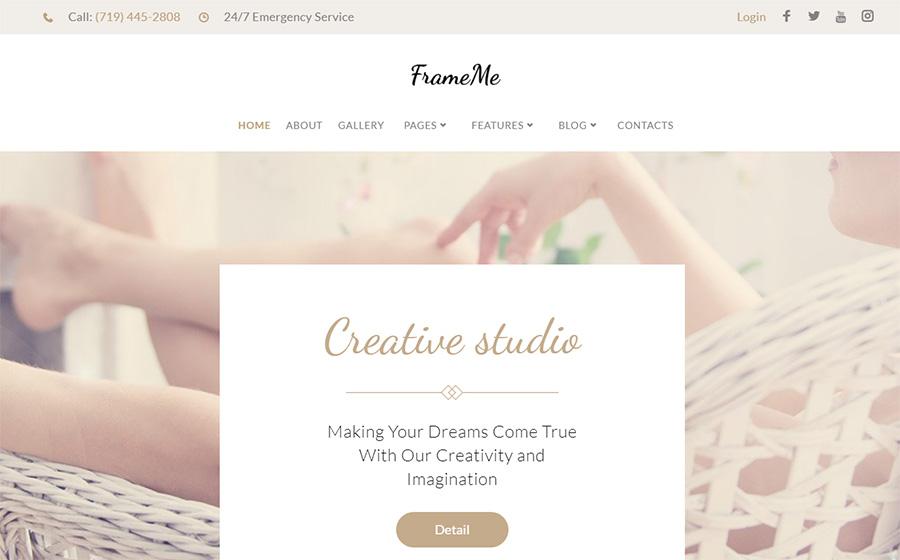 FrameMe - Thème WordPress pour studio de photo
