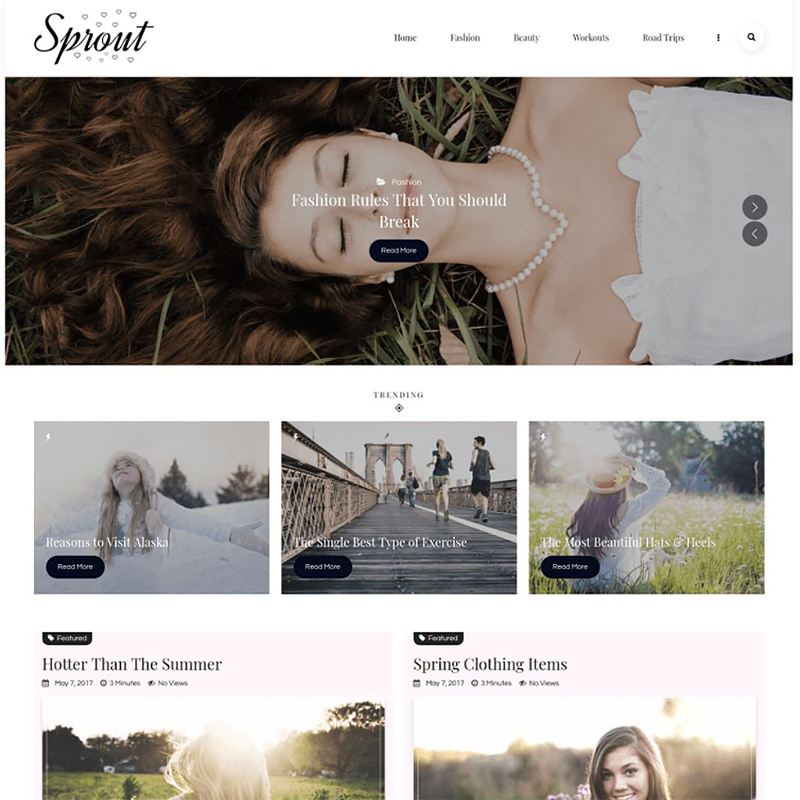 Sprout - Tema de WordPress para Blog Personal