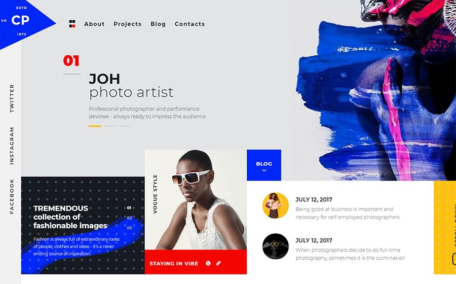 CPM - Thème WordPress Elementor créatif pour site de photographe