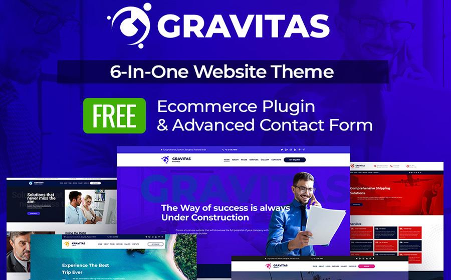 Gravitas - modèle Moto CMS 3 polyvalent pour site d'affaires
