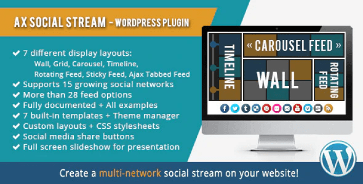 Ax social stream plugin wordpress
