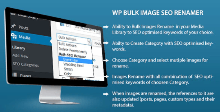 Bulk image seo renamer plugin wordpress