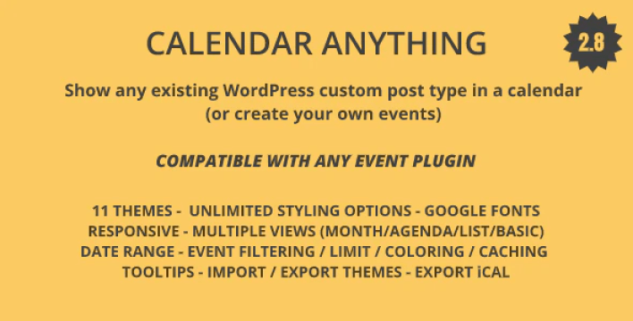 Calendar anything show any existing wordpress custom post type in a calendar plugin wordpress