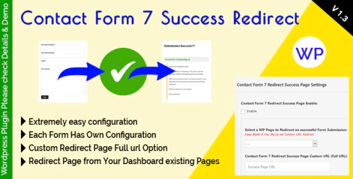 créer des redirections - Contact form 7 success redirect plugin wordpress