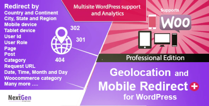 Country and mobile redirect for wordpress professional edition plugin wordpress