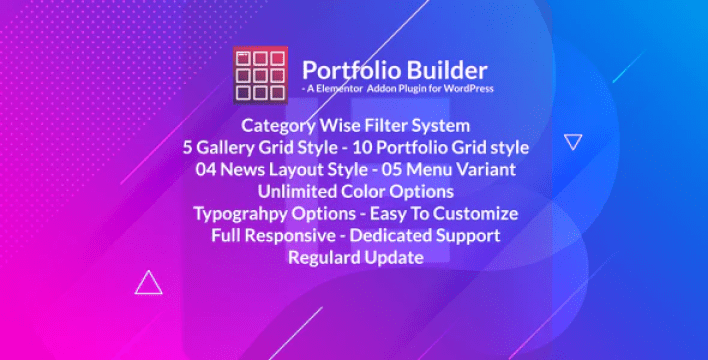Portfolio grid masonry portfolio filter plugin for elementor page builder by xgenious
