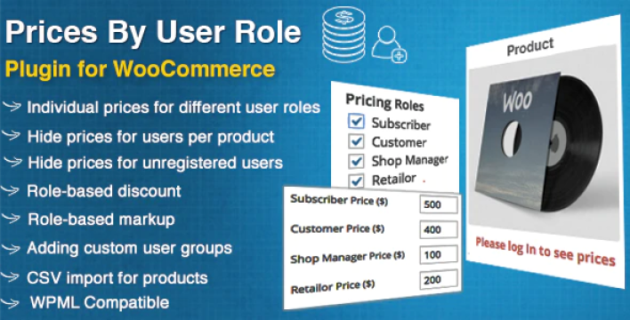 Prices by user role for woocommerce plugin wordpress