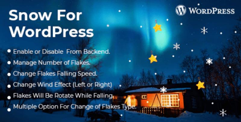 Snow effect wordpress plugin christmas plugin