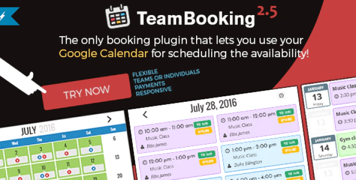 Team booking wordpress booking system plugin wordpress