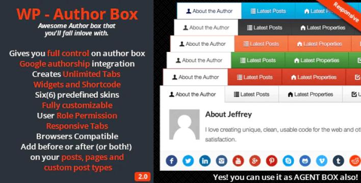 Wp – author box plugin wordpress