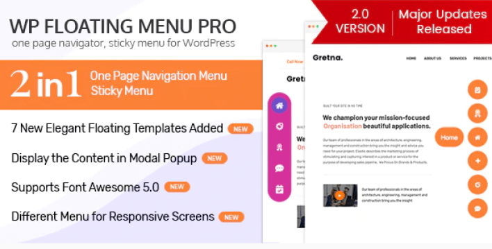 Wp floating menu pro one page navigator sticky menu for wordpress plugin