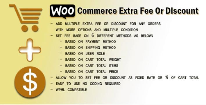 meilleurs plugins WordPress - Woocommerce extra fee or discount