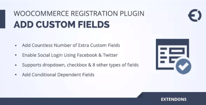Woocommerce Registration Add Custom Fields to Signup Form plugin WordPess