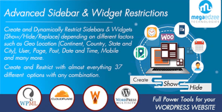 Wordpress sidebar and widgets visibility create sidebar hide sidebar and hide widgets plugin wordpress