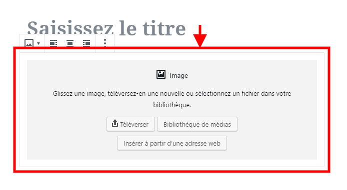 Zone dimage gutenberg
