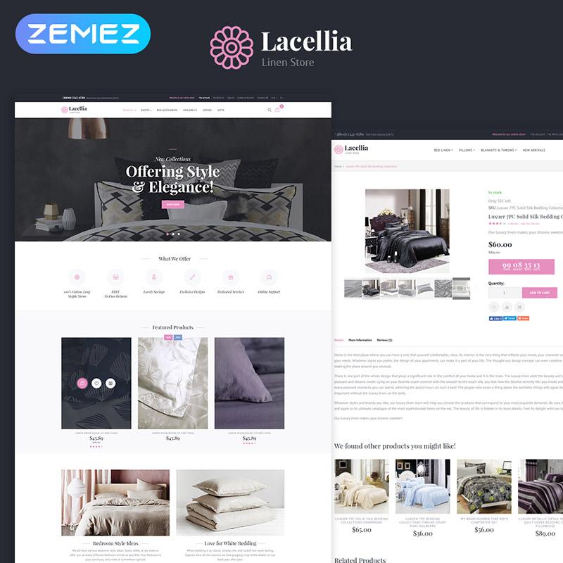Lacellia – Thème Magento 2 pour Boutique de linge