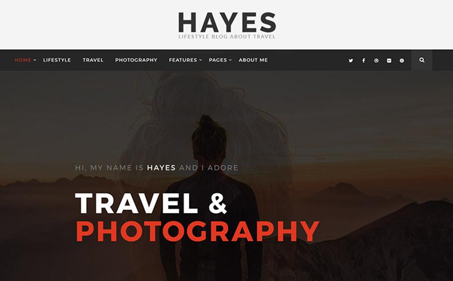 Hayes - Thème WordPress remarquable pour blog de voyages