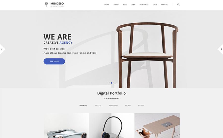 Mindelo - Thème WordPress minimaliste pour portfolio créatif