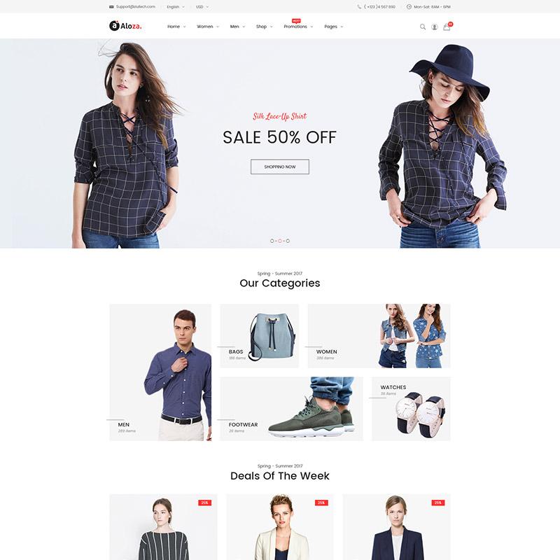 Aloza – Thème Magento 2 adaptatif pour boutique de mode