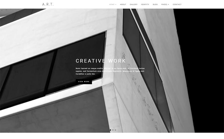 Art - Thème WordPress élégant pour portfolio de photographie
