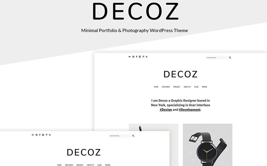 Decoz - Thème WordPress minimaliste magnifique pour portfolio en ligne