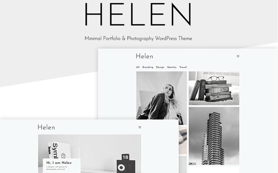 Helen - Minimal Portfolio & Photography WordPress Theme