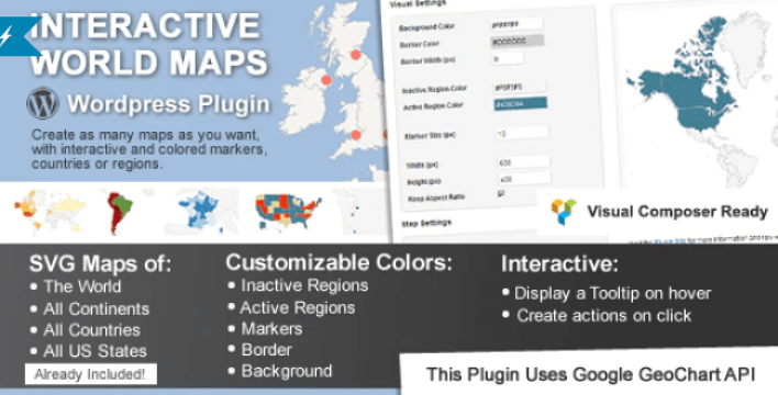Interactive world maps plugin wordpress