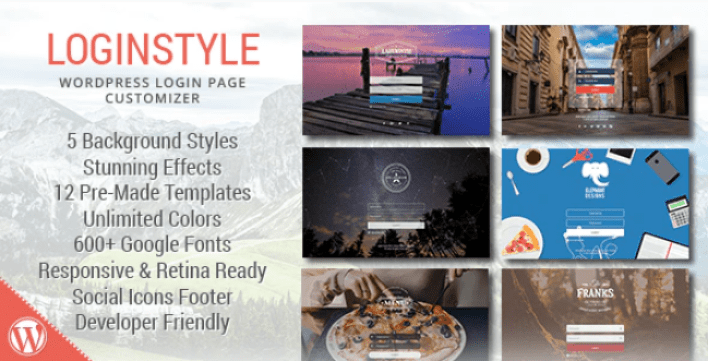 Loginstyle wordpress login page styler by archtheme codecanyon