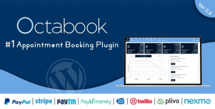 Octabook appointment scheduling software system for wordpress plugin