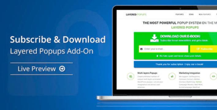 Subscribe download layered popups add on plugin wordpress