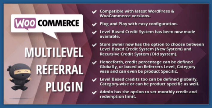 Woocommerce multilevel referral affiliate plugin wordpress