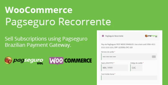 Woocommerce pagseguro recorrente by feliperinaldi codecanyon