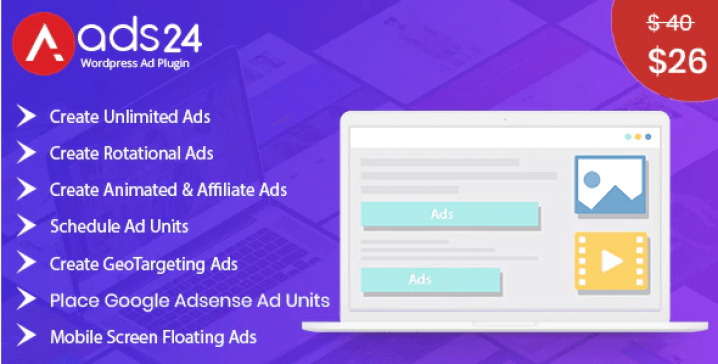 Ads24 ultimate wordpress advertising plugin wordpress