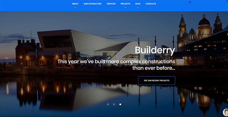 Builderry theme wordpress entreprise construction