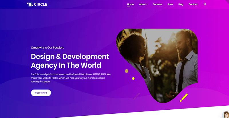 Circle themes wordpress creer site web agence marketing