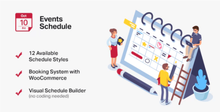 Events schedule wordpress events calendar plugin wordpress