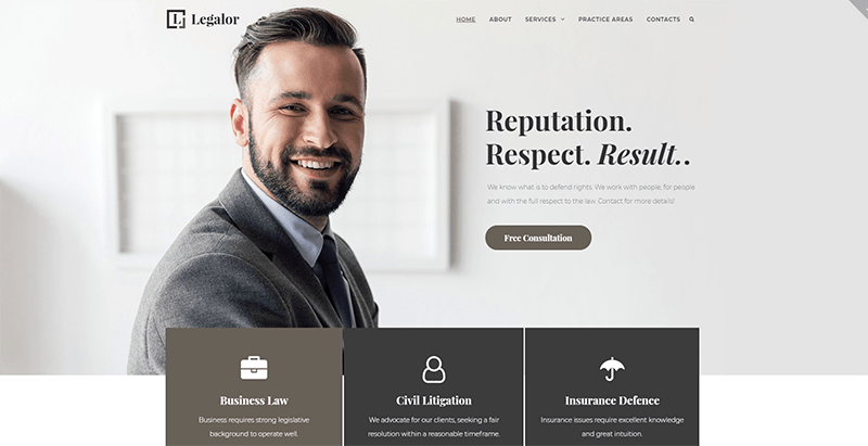 Legalor theme wordpress creer site web avocat